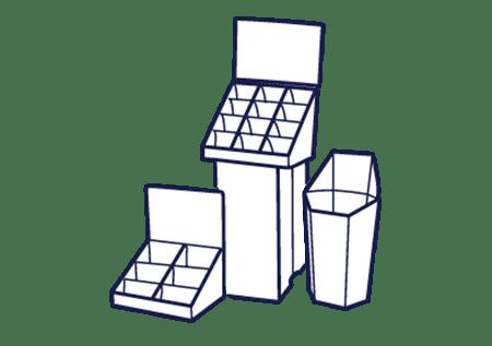 Cardboard POS for Merchandising Display